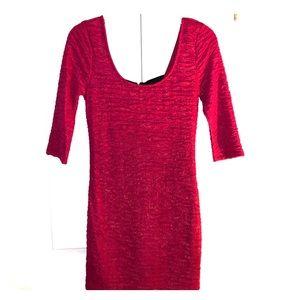Macys Red Mini Dress
